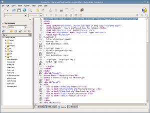 KompoZer - редактирование html кода в Linux
